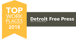 Detroit Free Press Top Work Place 2018 Winner