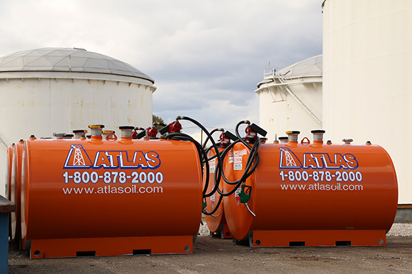 Atlas' 500 and 100 gallon tanks save construction sites valuable time and money.