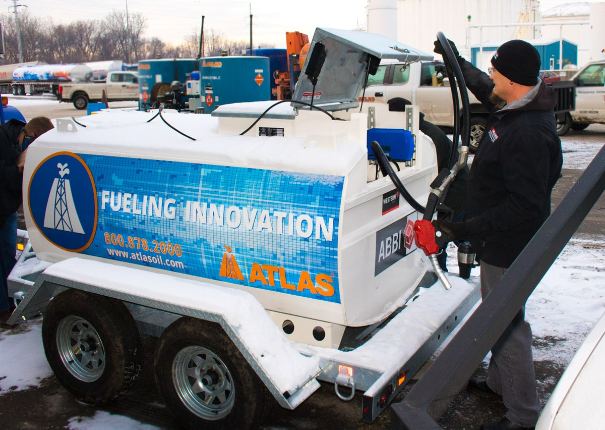 Our friends at PM Technologies examine Atlas' Fueling Innovation Trailer.