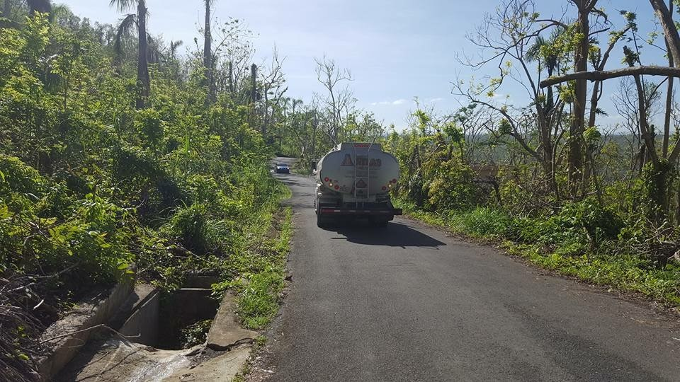 An Atlas truck en route to deliver emergency fuel in Puerto Rico.