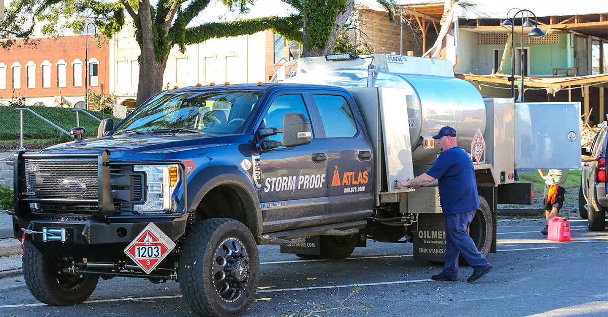 Atlas has a variety of emergency fuel trucks available to fit any type of terrain.
